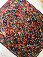 2'3 x 2'7 antique Persian Sarouk mat (#1368)