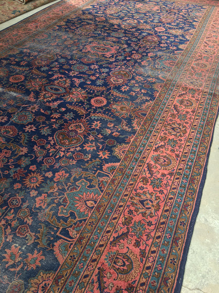 9'9 x 19'7 Antique palace size rug
