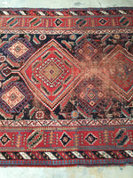 5' x 7'3 Antique Persian Afshar Rug (#1282)