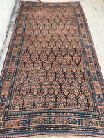 4'4 x 8'8 antique Kurdish rug #1113