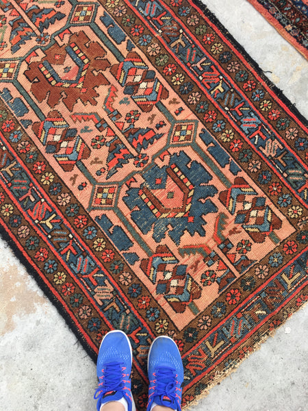 "3'4"" x 6'3"" antique Persian Malayer"