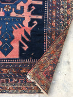 4'4 x 6'10 Antique Persian Rug (#1432)