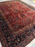 8'6 x 11'6 antique Persian Mohajeran Sarouk