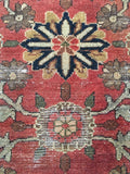 2'8 x 4'9 Antique Love Worn Kurdish Rug