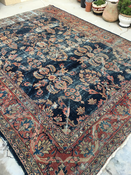 "7'10"" x 9'10"" Antique Persian Mahal Rug"