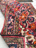 2'5 x 3'2 antique Sarouk Mat Rug