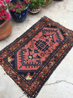 2'8 x 4'3 antique Kurdish rug