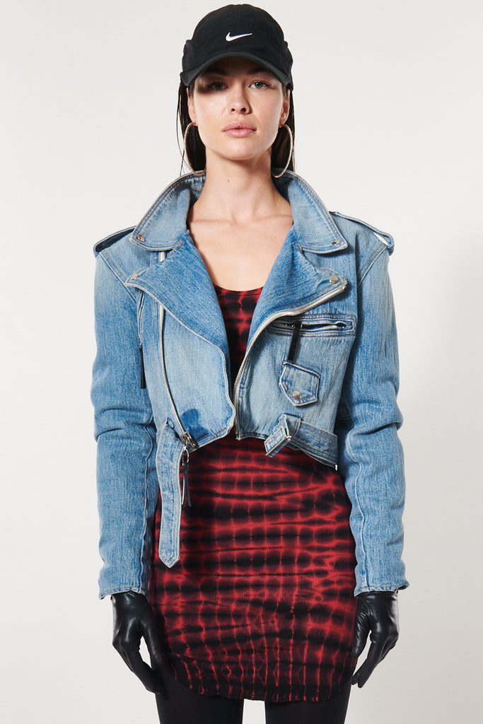 Jessie Denim Moto Jacket