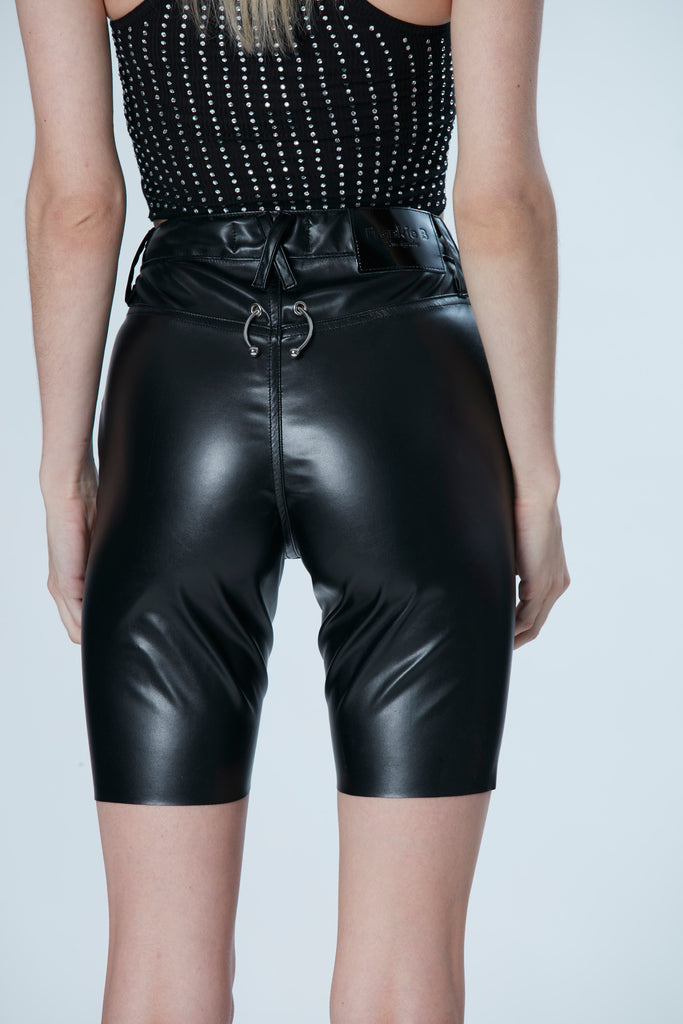 Gigi Vegan Leather Biker Short
