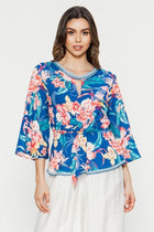 Blue Hibiscus Top