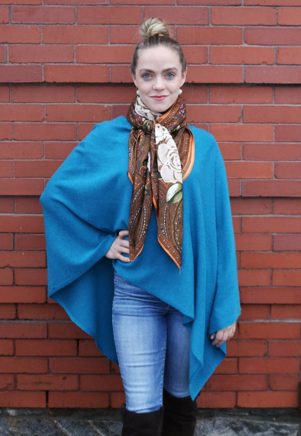 Cashmere Teal Poncho