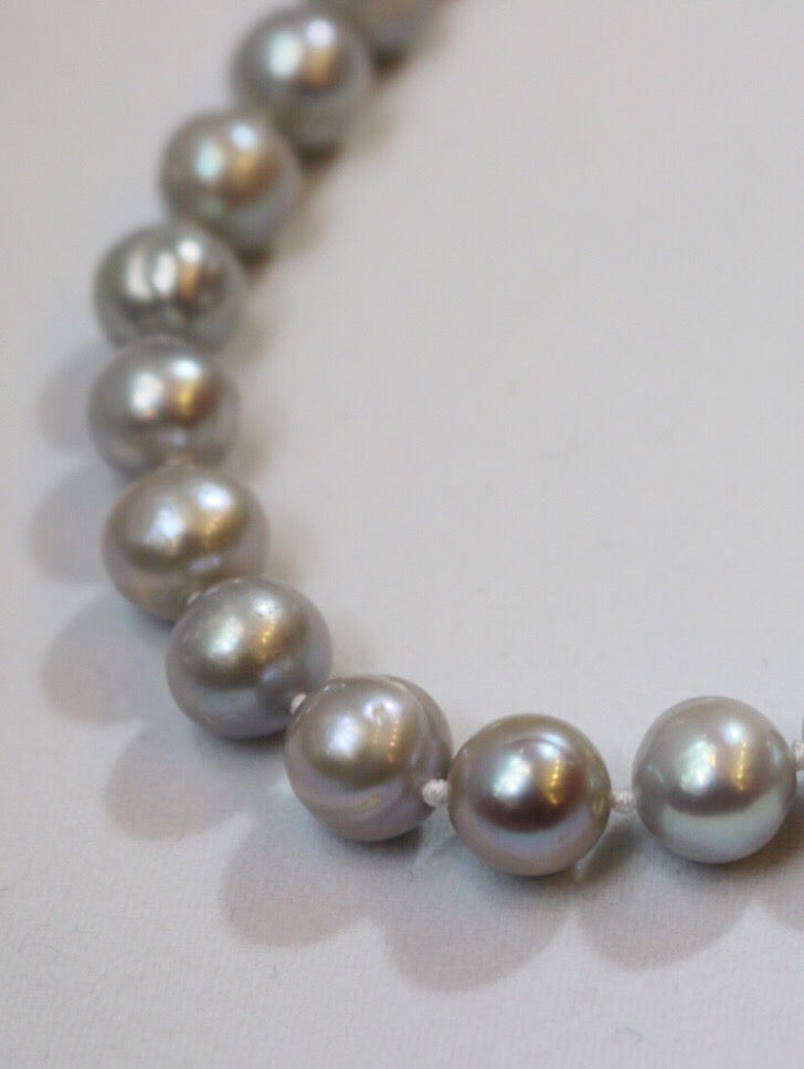 Silver Sky Pearl Necklace
