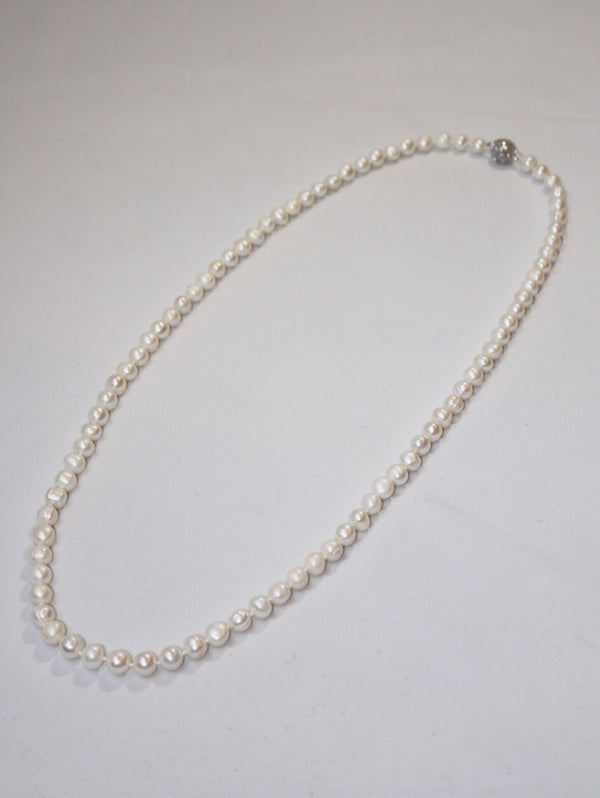 White Dove Pearl Necklace