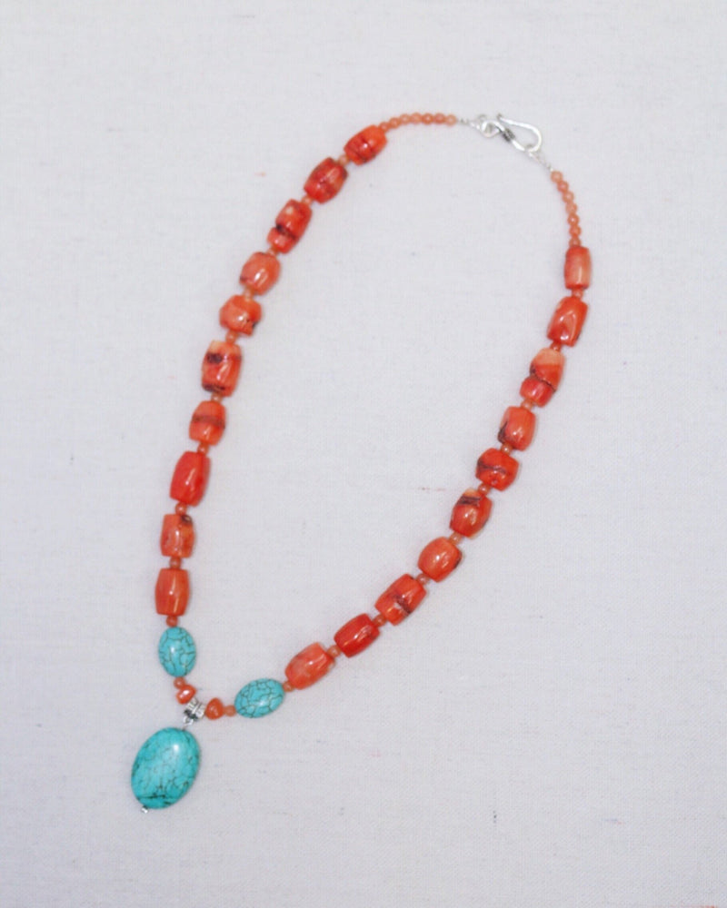 Coral Sunrise Necklace