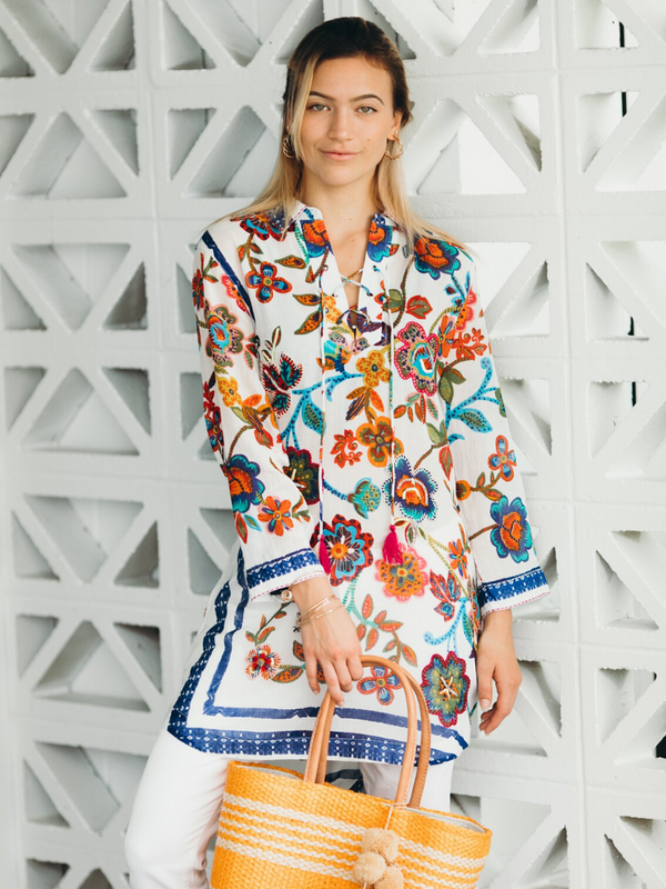 Annabel Floral Tunic Dress