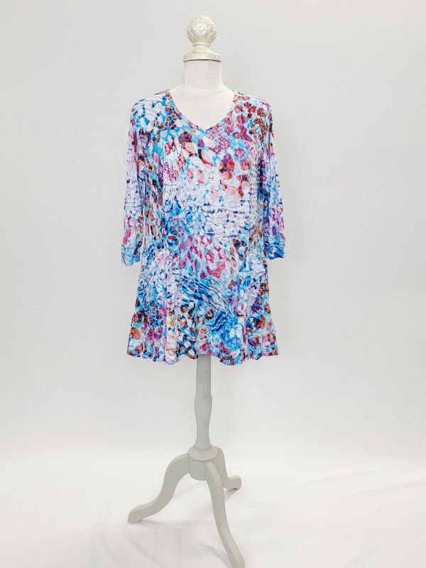 Watercolor Crinkle Tunic