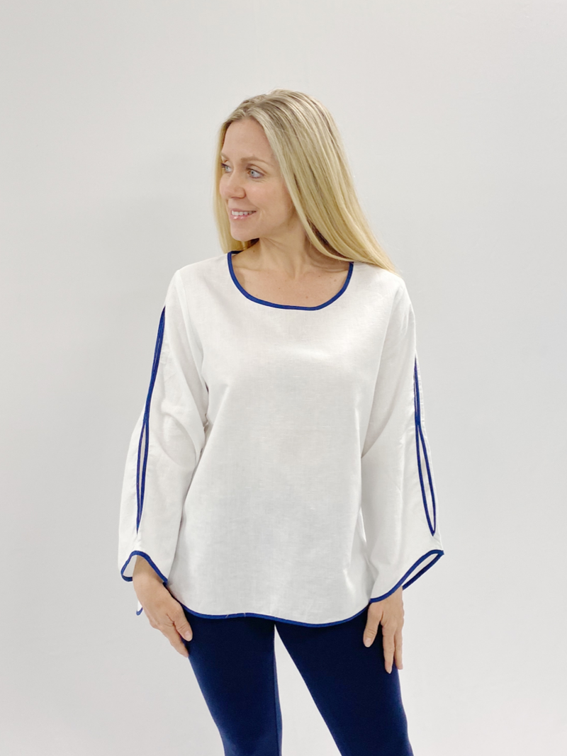Anchors Away Linen Top