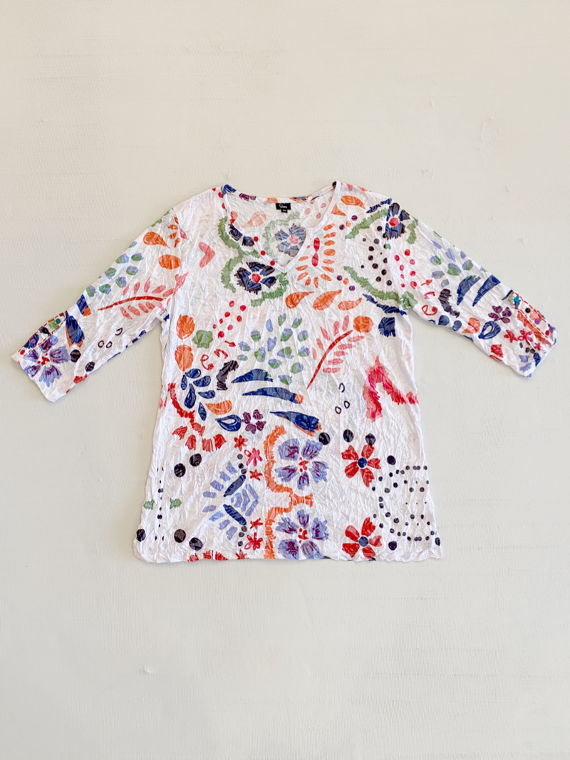 Petals Crinkle Tunic
