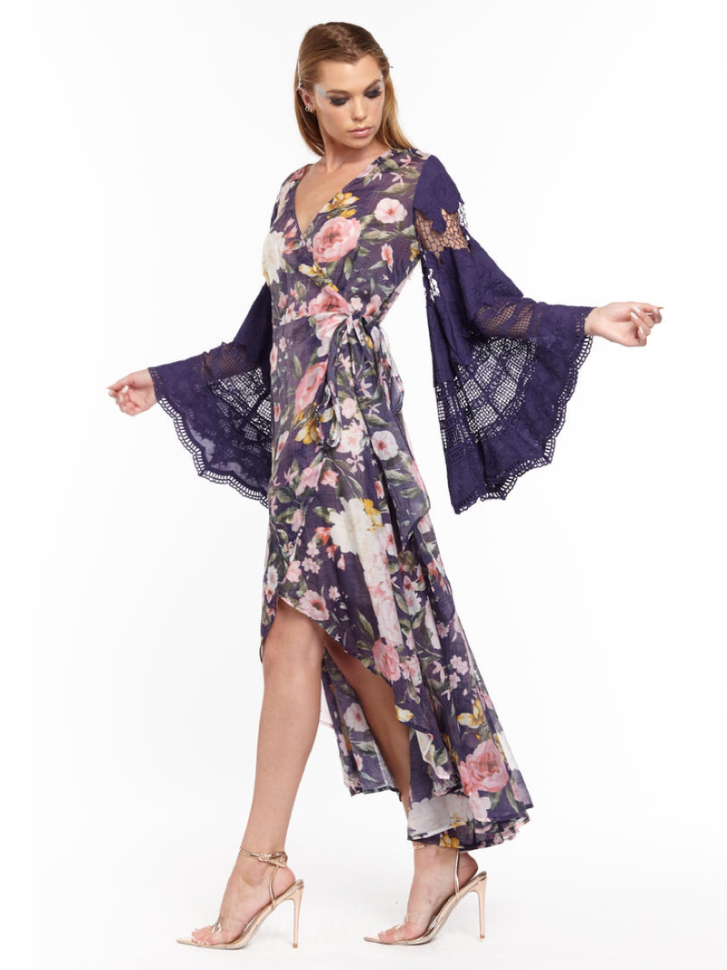 Royal Ascot Wrap Dress