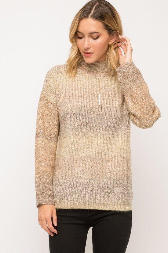 Multi Olive & Mocha Sweater