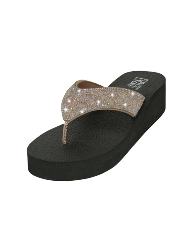 Lady Rhinestone Sandal - Rose Gold