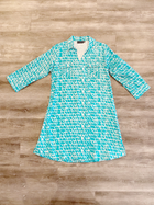Turquoise Paintbrush Dress