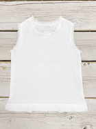 Frayed edge linen top