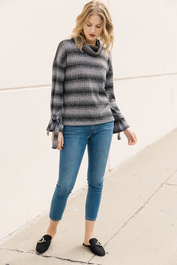 Funnel Neck Fall Top