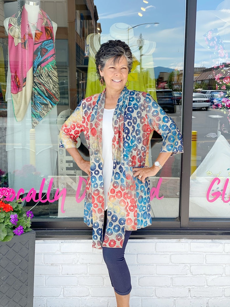 Coins Cardi Orange/Blue