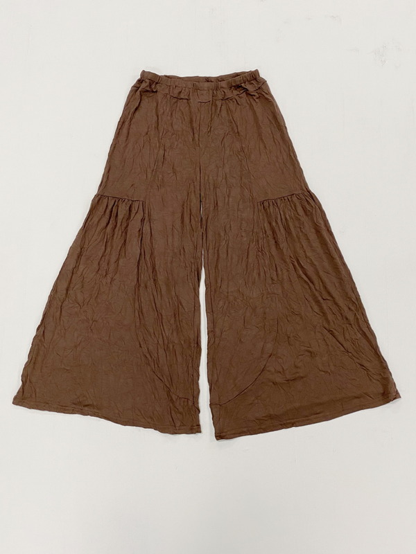 Brown Crinkle Pants