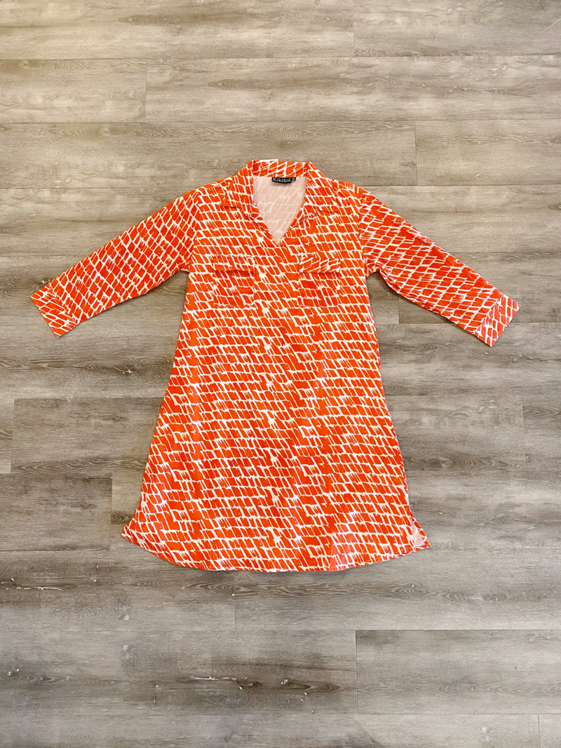 Papaya Paintbrush Dress