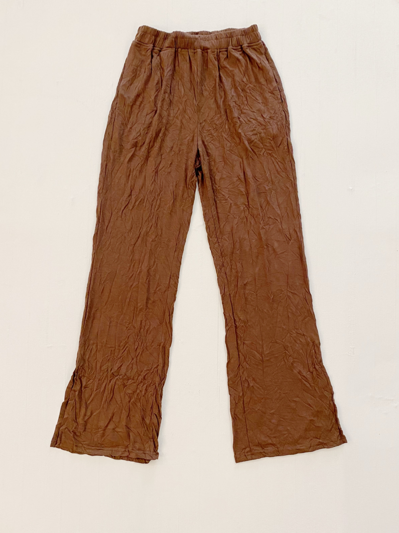 Everyday Crinkle Pants Brown