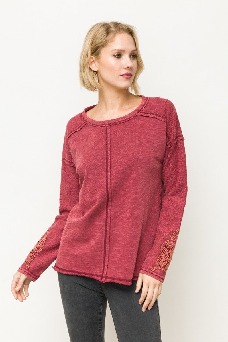 Berry Lace Walk About Top