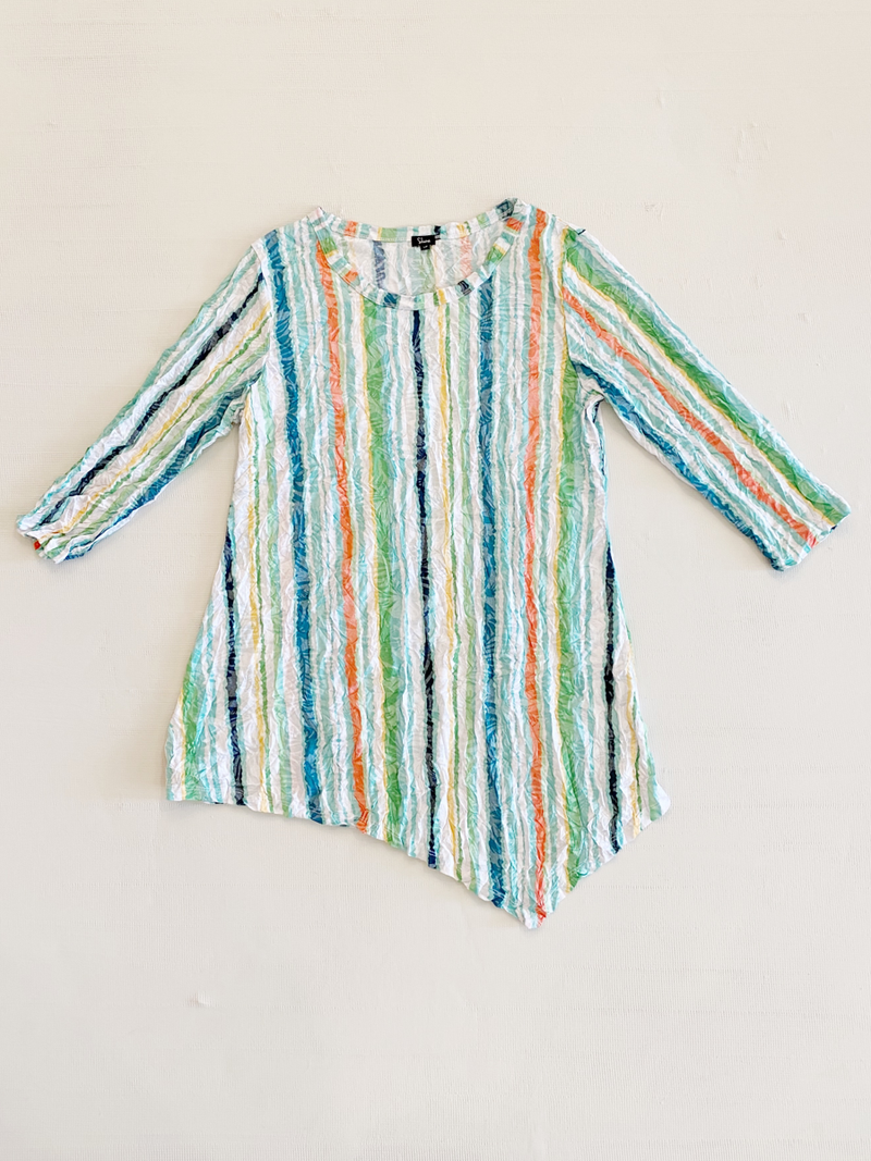 Spring Grass Crinkle Top