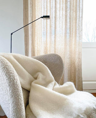 NEW - Light Weight Mohair Throw (large size)