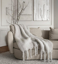 Mohair Throw Light Grey