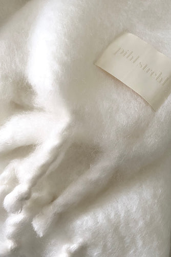 White - Fringe Mohair  (IN STOCK - JAN 2021)