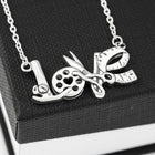 Sewing LOVE Necklace