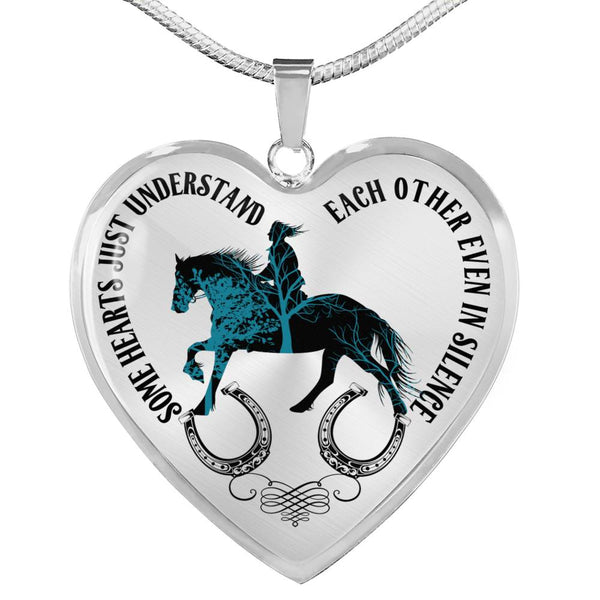 Silent Love Horse and Rider Necklace (USA Made)