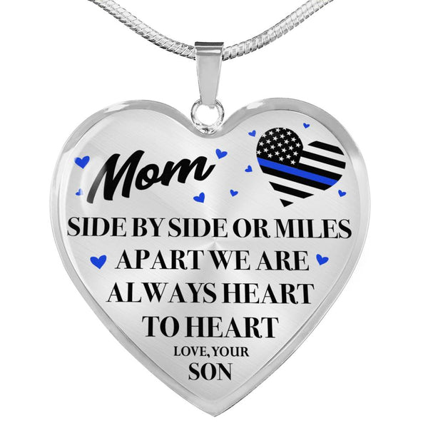 Heart To Heart Police Mom Necklace (USA Made)