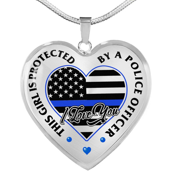Protected By A Police Officer Necklace (USA Made)
