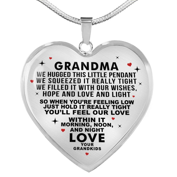 We Love You Grandma Necklace (Made In The USA)