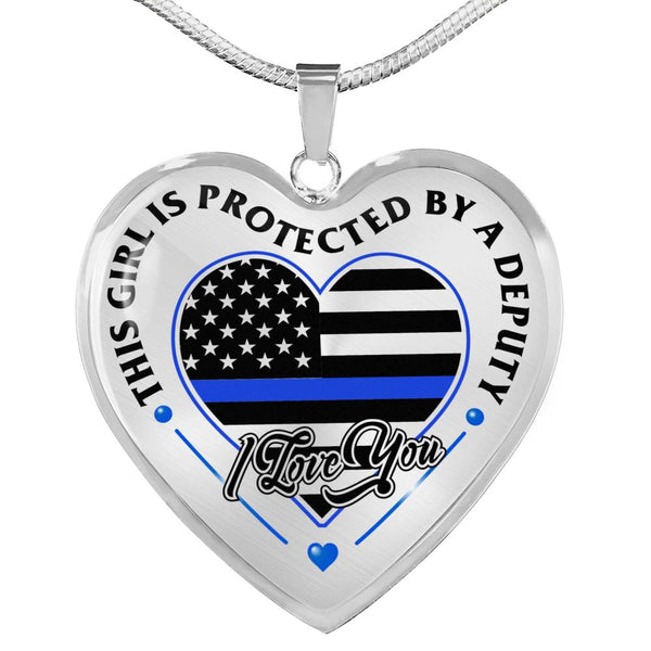 Loved And Protected By A Deputy Necklace (USA Made)