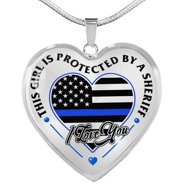 Loved And Protected By A Sheriff Necklace (USA Made)