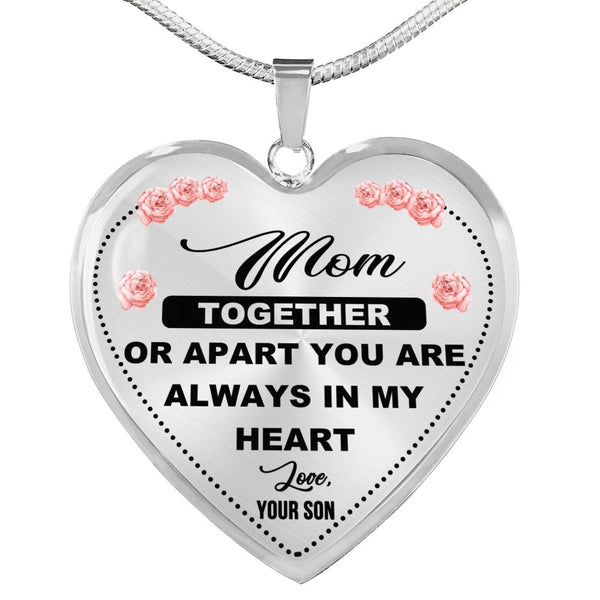 Always In My Heart Mom Necklace (USA Made)