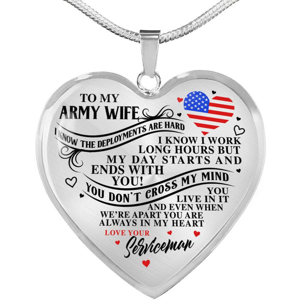 Army Wife Always In My Heart Necklace