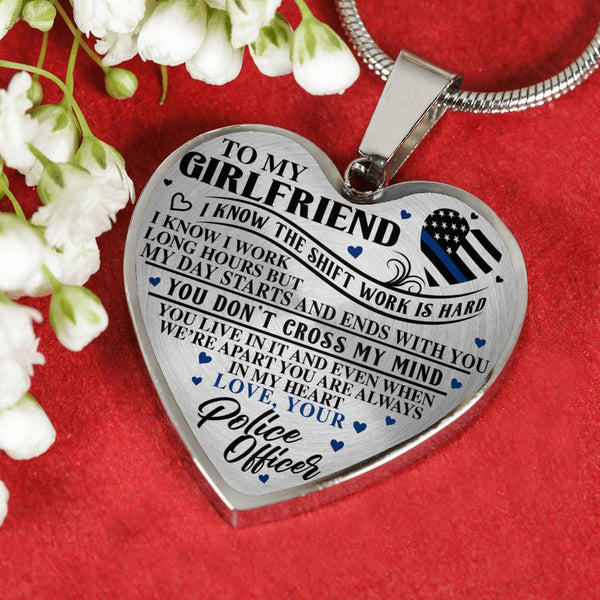 Police Officer's Girlfriend Heart Necklace