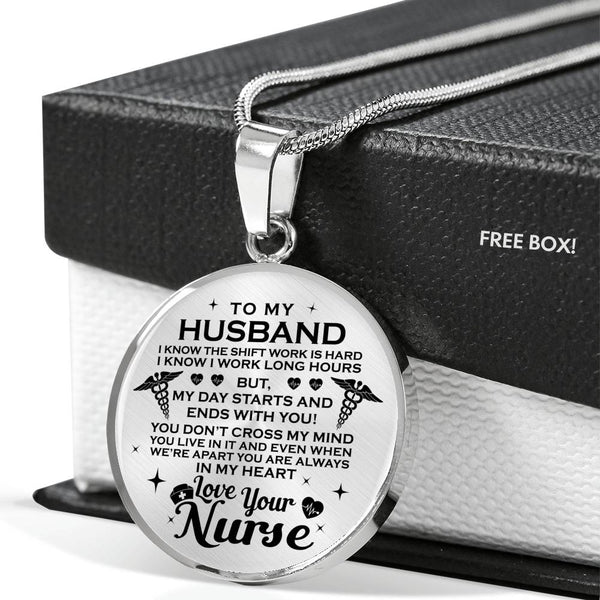 You Are Always In My Heart Nurse Husband Necklace