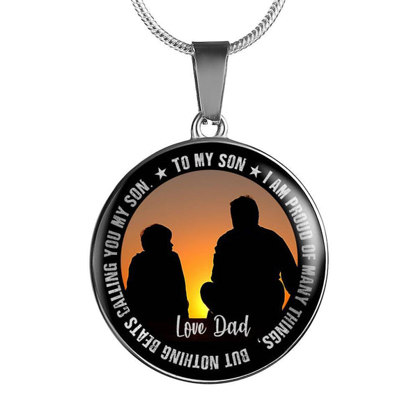 To My Son - Love from Dad - Necklace