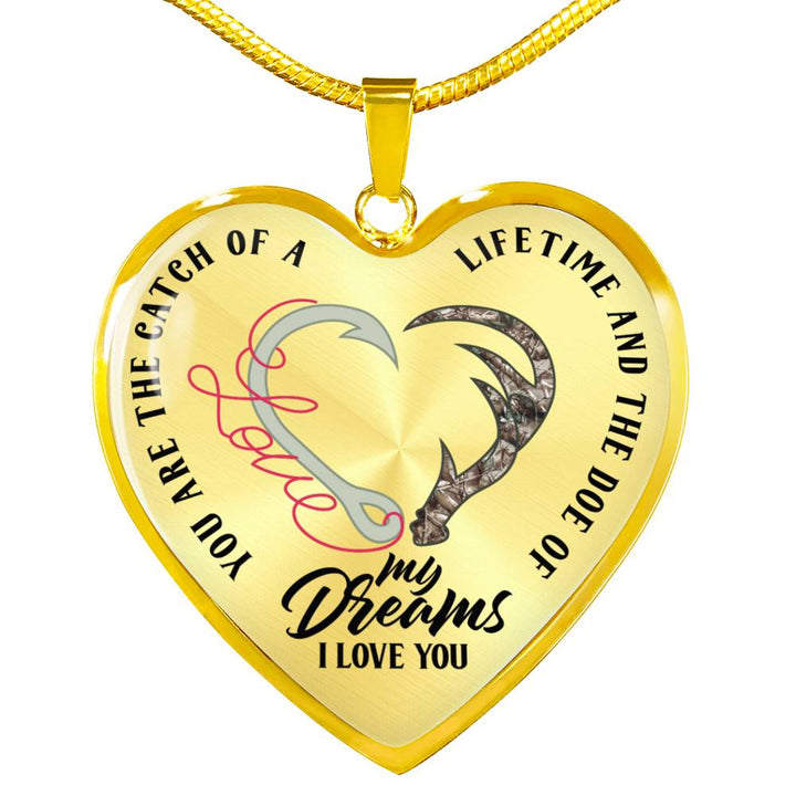 Catch Of A Lifetime Doe Of My Dream Hunting Love Necklace (USA Made)